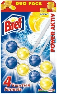 Bref Power Aktive zawieszka do wc kulki Lemon 2x50g
