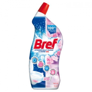 Bref wc gel floral delight  płyn do mycia toalet 700ml